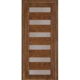 Межкомнатная дверь TERMINUS Modern Модель 137 дуб браун полотно застекленное
