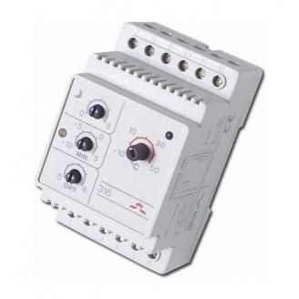 Терморегулятор електронний на шину DIN DEVI DEVIreg 316 0,25 Вт