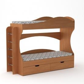 Двох`ярусне ліжко Компаніт Бриз 1670х2092х744 мм вільха