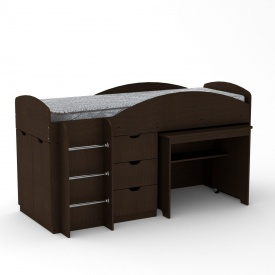 Детская кровать Универсал Компанит 1060х1942х892 мм венге