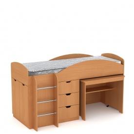 Детская кровать Универсал Компанит 1060х1942х892 мм бук