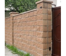 Блок декоративный Золотой Мандарин М-200 односторонний скол 400х200х200 мм персиковый