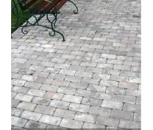 Тротуарная плитка Золотой Мандарин Кирпич Антик 200х100х60 мм серый