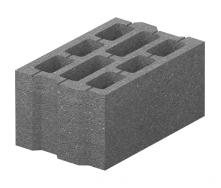 Блок бетонный Золотой Мандарин М-75 40.25.20 396х250х190 мм