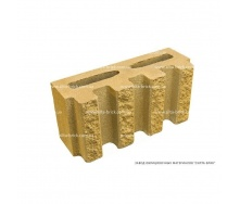 Блок декоративный канелюрный Силта-Брик 390х190х140 мм цветной