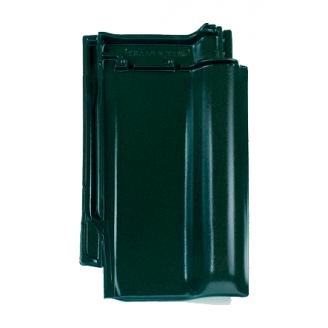 Черепица Braas Рубин 13V Топ глазурь 435х276 мм бриллиантово зеленый