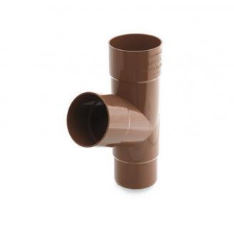 Тройник трубы Bryza 125 245х90,2х90,2х84,5 мм коричневый