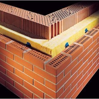 Кладка наружных стен из кирпича с утеплителем и облицовкой
