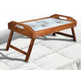 Столик для сніданку-піднос Мікс-меблі 250х550х350 мм світлий горіх
