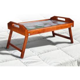 Столик для сніданку-піднос Мікс-меблі 250х550х350 мм горіх