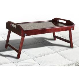 Столик для сніданку-піднос Мікс-меблі 250х550х350 мм світлий темний горіх