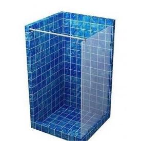 Скляна перегородка для душу S-MIX 1800 мм