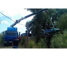 Перевозка трансформатора грузовиком с манипулятором