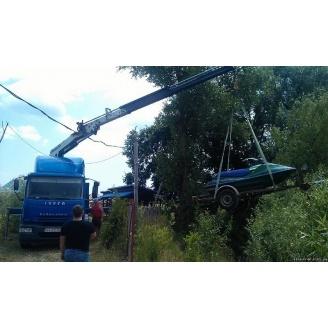 Перевезення трансформатора вантажівкою з маніпуляторм