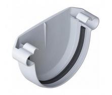 Заглушка желоба Альта-Профиль Элит 125 мм белый