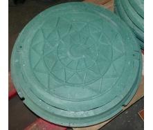 Люк полимерный А15 зеленый