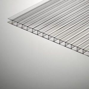 Сотовый поликарбонат Plazit Polygal Стандарт 6000х2100х4 мм прозрачный (Россия)
