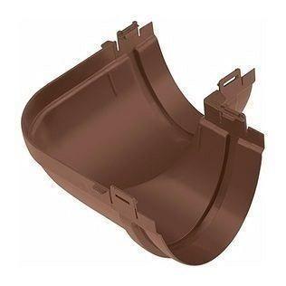 Угол желоба Альта-Профиль Элит 90 градусов 125 мм коричневый