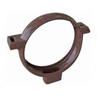 Хомут трубы Альта-Профиль Элит 95 мм коричневый