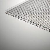 Сотовый поликарбонат Plazit Polygal Стандарт 12000х2100х6 мм прозрачный (Россия)