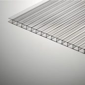 Сотовый поликарбонат Plazit Polygal Стандарт 12000х2100х8 мм прозрачный (Израиль)