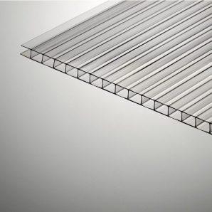 Стільниковий полікарбонат Plazit Polygal Стандарт 12000х2100х6 мм прозорий (Ізраїль)