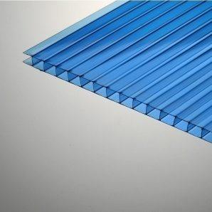 Стільниковий полікарбонат Plazit Polygal Стандарт 6000х2100х8 мм синій (Ізраїль)
