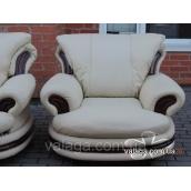 Шкіряний диван і крісла PALERMO, шкіряний комплект, шкіряні меблі
