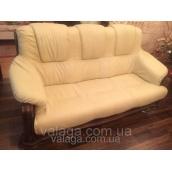 """Шкіряний диван і крісла на дубі """"KATRIN, шкіряні меблі,шкіряний диван"""