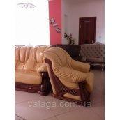 Комплект меблів Leon, шкіряний диван і 2 крісла Польща
