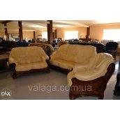 Шкіряний диван, шкіряні меблі на дубі Parys, шкіряні меблі.