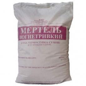 Мертель шамотний МШ-28 25 кг