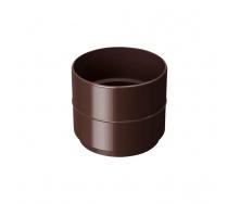 Муфта водосточной трубы Rainway 75 мм коричневая