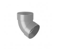 Отвод двухмуфтовый Rainway 67 градусов 75 мм серый