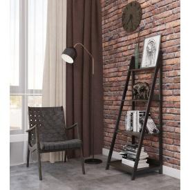 Стеллаж Металл-Дизайн Дуо Лофт 1470х520х480 мм черный