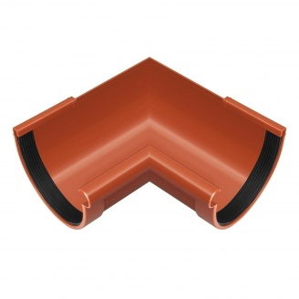 Угол желоба внутренний Rainway 90 градусов 130 мм кирпичный