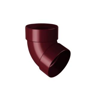 Отвод двухмуфтовый Rainway 67 градусов 75 мм красный