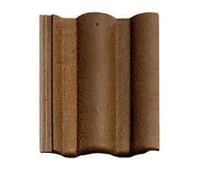 Цементно-песчаная черепица BRAAS Адрия Slury 420х330 мм коричнево-золотой