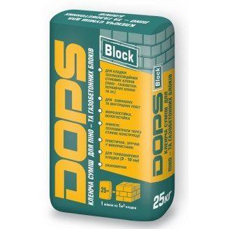 Клей для газоблоков Dops блок 25 кг