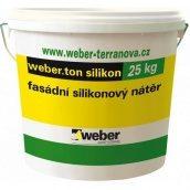 Фасадна силіконова фарба weber.ton silicon 0,6 кг/м2 25 кг white base