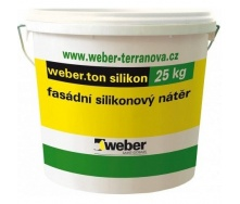 Фасадная силиконовая краска weber.ton silicon 0,6 кг/м2 25 кг white base