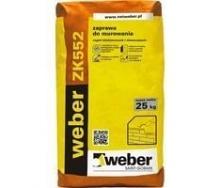 Раствор weber ZK552 для кладки из керамического кирпича 35 кг/м2 25 кг серый (color F18)