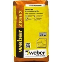 Розчин weber ZK552 для кладки з керамічної цегли 35 кг/м2 25 кг сірий (color F18)