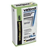 Финишная влагостойкая шпаклевка weber.vetonit VH на цементной основе 1,2 кг/м2 20 кг белая