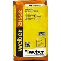 Раствор weber ZK552 для кладки из керамического кирпича 35 кг/м2 25 кг светло-серый (color F22)