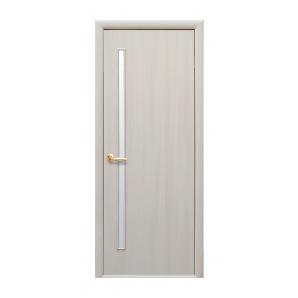 Двері міжкімнатні Новий Стиль КВАДРА Глорія 800х2000 мм дуб перлинний