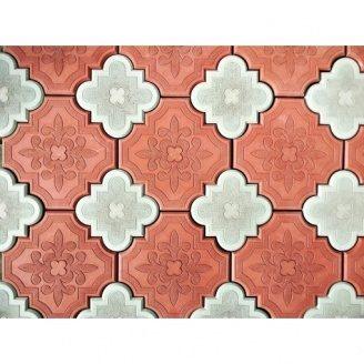 Тротуарная плитка Гжель 45 мм красная