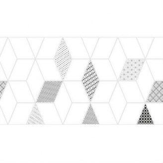 Керамическая плитка KERAMIN Тренд 7 тип 3 300х600 мм серая белая матовая