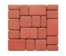 Тротуарна плитка ЕКО Старе місто 180х120х60 мм червона