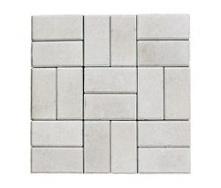 Тротуарная плитка ЭКО Кирпич 200х100х25 мм белая